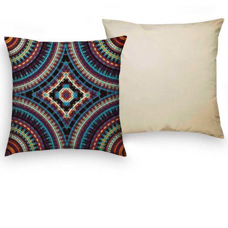 imagem do produto Almofada Decorativa Quadrada 44x44cm Digital Saphire 2 - Kacyumara