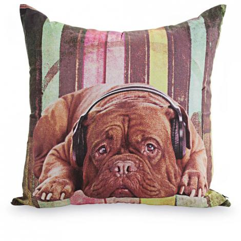 imagem do produto Almofada Decorativa Quadrada 44x44cm Dogs Rádio - Kacyumara