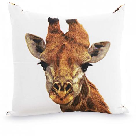 imagem do produto Almofada Decorativa Quadrada 44x44cm Girafa - Kacyumara