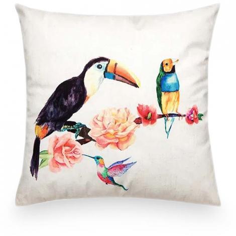 imagem do produto Almofada Decorativa Quadrada 55x55cm Digital Pássaros 1 - Kacyumara