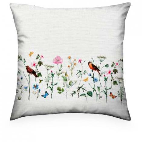 imagem do produto Almofada Decorativa Quadrada 55x55cm Linho Jardim 01 - Kacyumara