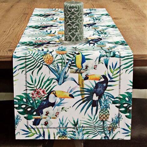 imagem do produto Caminho de Mesa Retangular 40x180cm Glamour Noronha - Catran