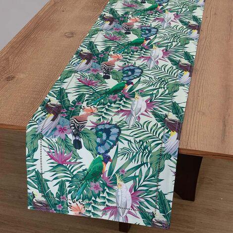 imagem do produto Caminho de Mesa Retangular 40x180cm Glamour Pássaros - Catran