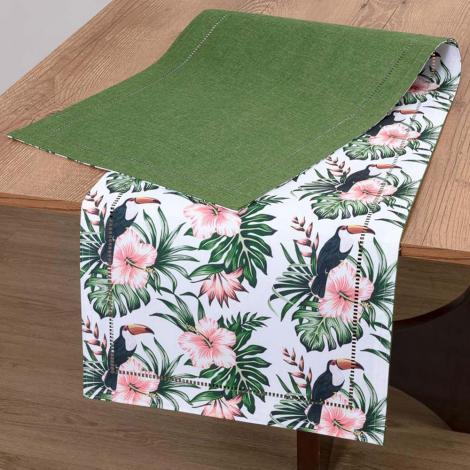 imagem do produto Caminho de Mesa Retangular 40x180cm Glamour Tropical - Catran