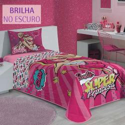 74315d3fa6 ... imagem de Colcha Solteiro Dupla Face Barbie Super Princesa - Lepper