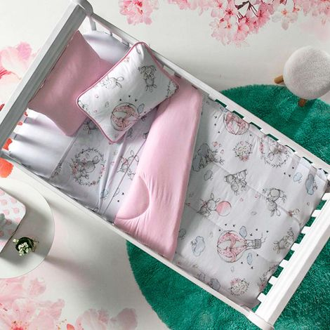 imagem do produto Jogo de Berço Malha Soft Little Bunny - Tellesoft