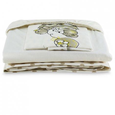 imagem do produto Jogo de Berço Malha Soft Ursinho Kaki - Tellesoft