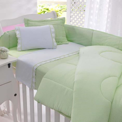 imagem do produto Jogo de Berço Malha Soft Ursinho Verde - Tellesoft