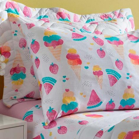 fa49d33277 Infantil Jogo de Cama Naturalle Fashion Jogo de Cama Solteiro Malha Sorvete  Cama Mesa Banho