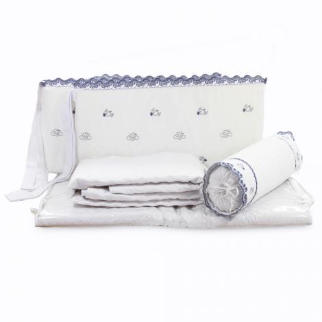 imagem do produto Kit Berço 200 Fios 6 Peças Passarinhos - Marken Fassi Baby