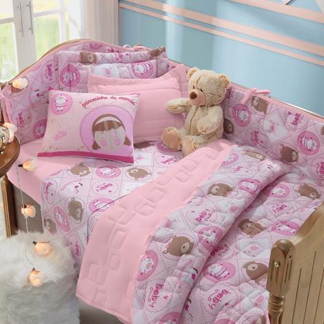 imagem do produto Kit Berço 8 Peças Malha Soft Princesinha - Tellesoft