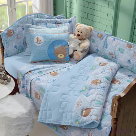 imagem do produto Kit Berço 8 Peças Malha Soft Príncipe - Tellesoft