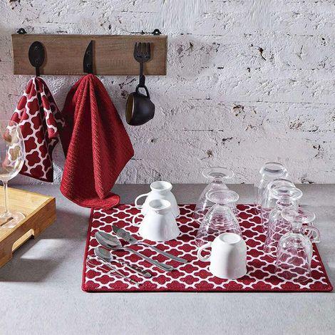 imagem do produto Kit de Cozinha 3 peças Microfibra Escorredor com Panos de Copa - Jolitex
