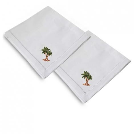 imagem do produto Kit Guardanapo 2 Peças Ponto Ajour Bordado Palmeira - Niazitex