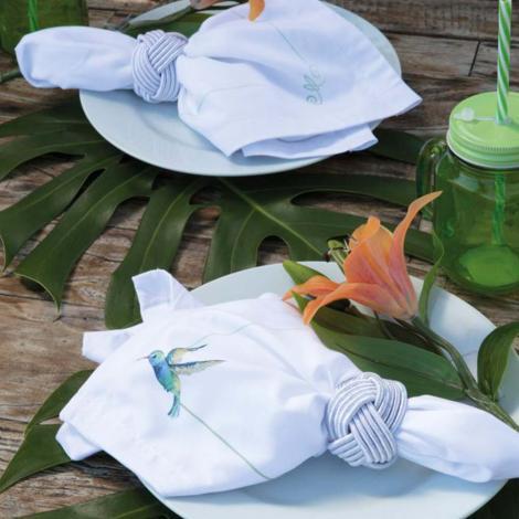 imagem do produto Kit Guardanapo 4 Peças Beija-Flor - Linha K