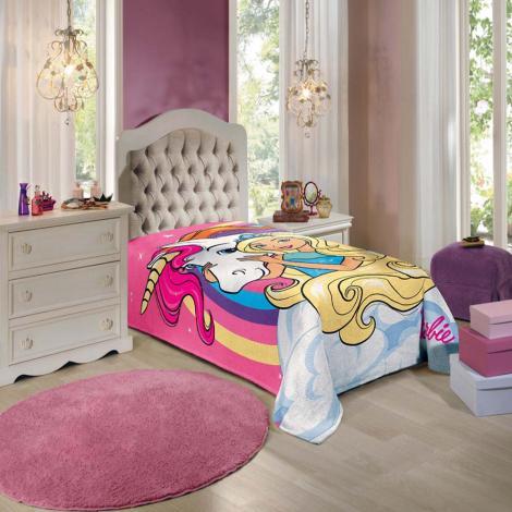 imagem do produto Manta Fleece Barbie Reinos Mágicos - Lepper