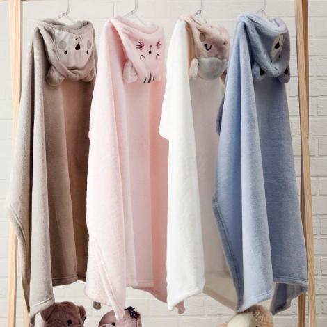 imagem do produto Manta Infantil Com Capuz Urso Bege - Camesa