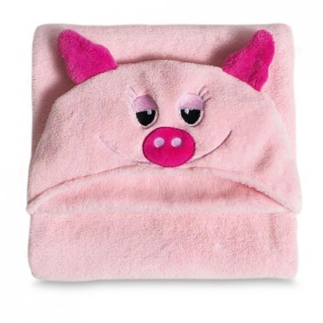 imagem do produto Manta Infantil Microfibra Com Capuz Pig - Buettner