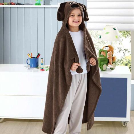 imagem do produto Manta Infantil Microfibra Com Capuz Ursinha - Buettner