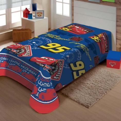 imagem do produto Manta Soft Solteiro Infantil Carros 95 - Jolitex