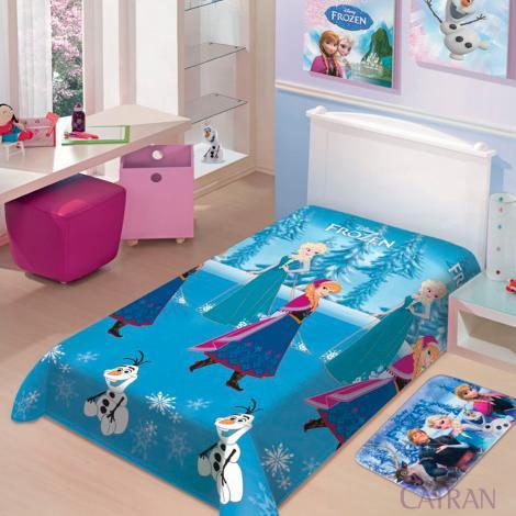 imagem do produto Manta Soft Solteiro Infantil Frozen Neve - Jolitex