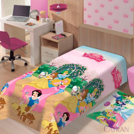 imagem do produto Manta Soft Solteiro Infantil Princesas Jardim - Jolitex