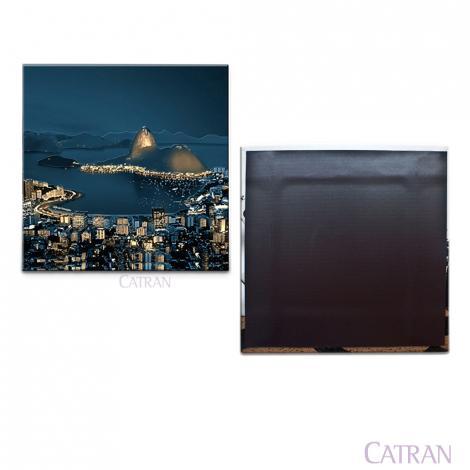 imagem do produto Porta Copo Avulso Vinil com Ímã Enseada de Botafogo Rio Noite - Catran