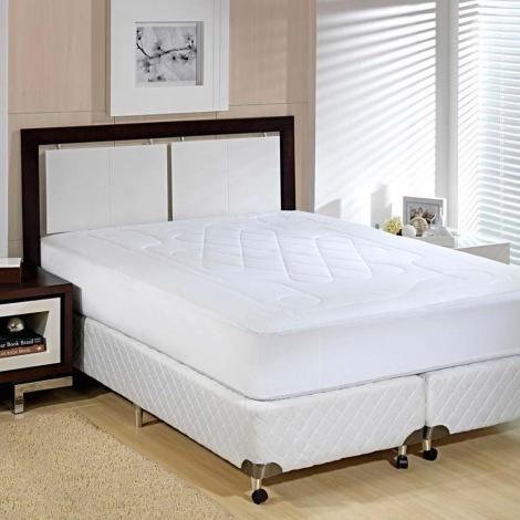9f096c1d35 Cama Protetor de colchão Plumasul Protetor de Colchão Casal Impermeável Microfibra  Soft Touch Cama Mesa Banho