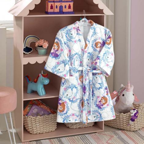 imagem do produto Roupão de Banho Infantil Velour Princesa Sofia 05 - Dohler