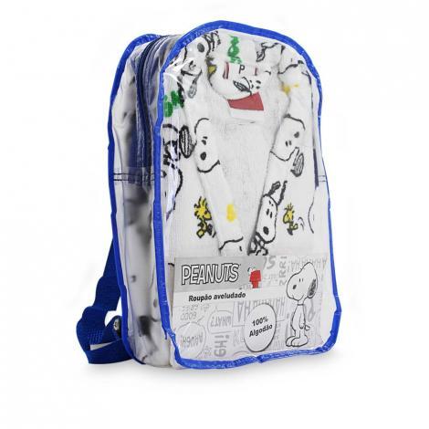 imagem do produto Roupão Infantil Médio com Mochila Velour Snoopy 02 - Dohler