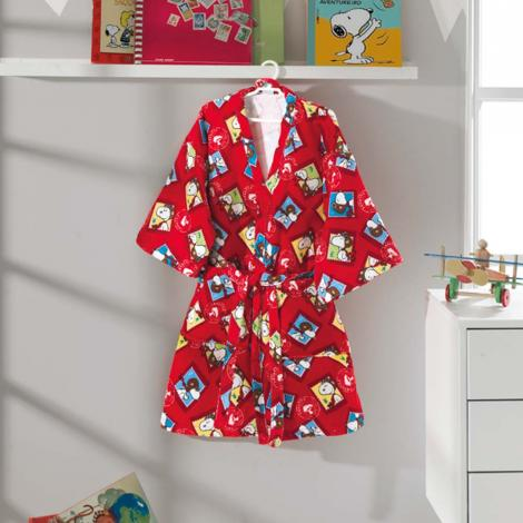 imagem do produto Roupão Infantil Médio Velour Snoopy 05 - Dohler