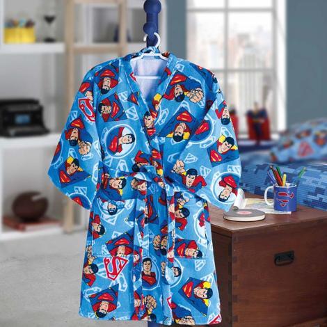 imagem do produto Roupão Infantil Médio Velour Superman 18 - Dohler