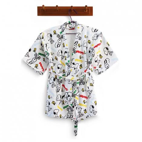 imagem do produto Roupão Infantil Pequeno com Mochila Velour Snoopy 02 - Dohler
