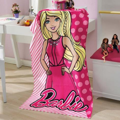 1f50e96b43 Infantil Toalha de Banho Dohler Toalha de Banho Velour Barbie 03 Cama Mesa  Banho