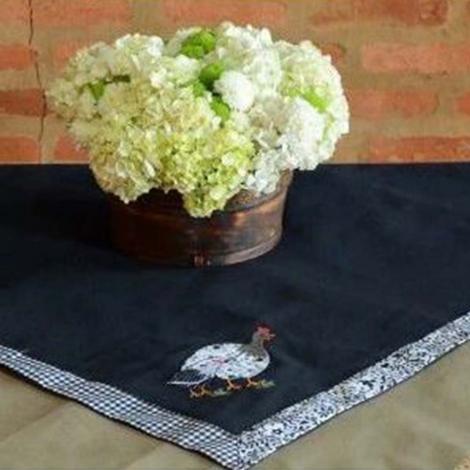 imagem do produto Toalha de Mesa Quadrada 100x100cm Brim Gourmet Galinha D`Angola - Catran