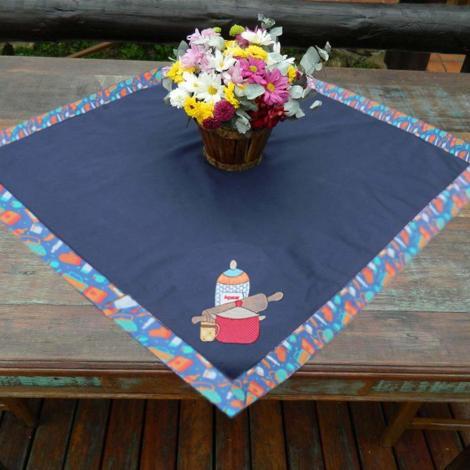 imagem do produto Toalha de Mesa Quadrada 100x100cm Brim Gourmet Utensílios - Catran