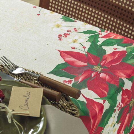 imagem do produto Toalha de Mesa Quadrada 140x140cm Milagres de Natal - Karsten