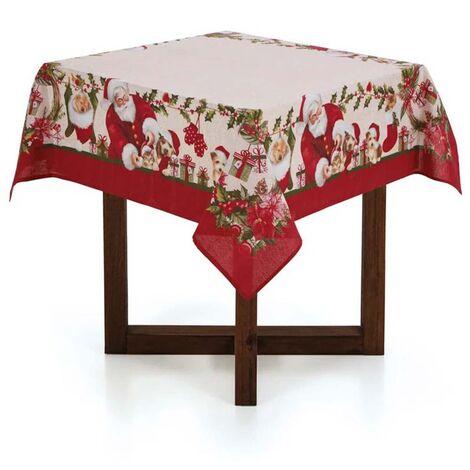 imagem do produto Toalha de Mesa Quadrada 140x140cm Natal Bons Amigos - Karsten