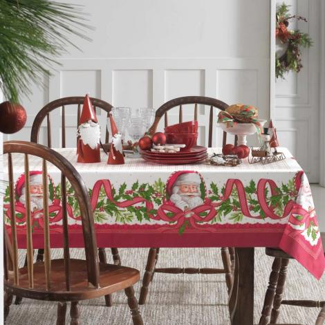 imagem do produto Toalha de Mesa Quadrada 140x140cm Natal Sinos do Noel - Karsten