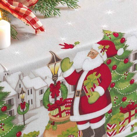 imagem do produto Toalha de Mesa Quadrada 140x140cm Vila de Natal  - Karsten