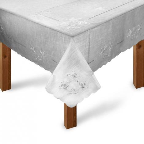 imagem do produto Toalha de Mesa Quadrada 180x180cm Bordada 234 - Rafimex