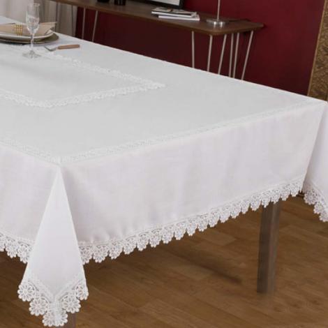 imagem do produto Toalha de Mesa Quadrada 180x180cm Poli Bambu 2338 - Rafimex