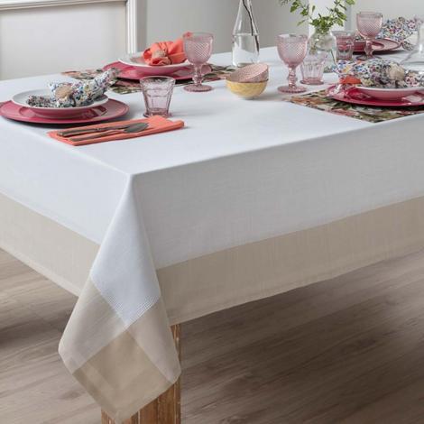 imagem do produto Toalha de Mesa Quadrada 220x220cm Chamonix - Naturalle Fashion
