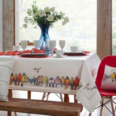 imagem do produto Toalha de Mesa Quadrada Sarja Pássaros - Catran