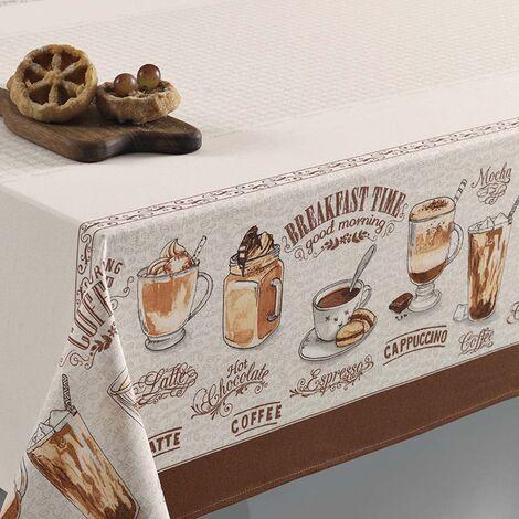 imagem do produto Toalha de Mesa Redonda 160cm Café Gourmet - Karsten