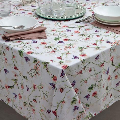 imagem do produto Toalha de Mesa Redonda 160cm Impermeável Borboletas - Kacyumara