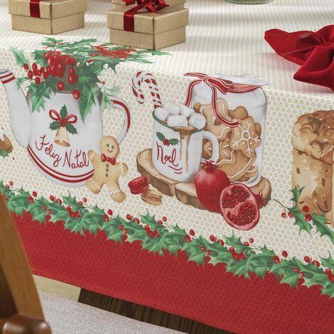 imagem do produto Toalha de Mesa Redonda 160cm Natal Segredos de Receita - Karsten