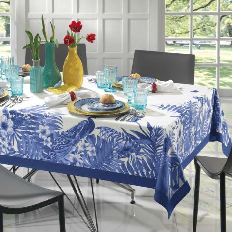 imagem do produto Toalha de Mesa Redonda 178cm Sempre Limpa Nature Blue - Karsten