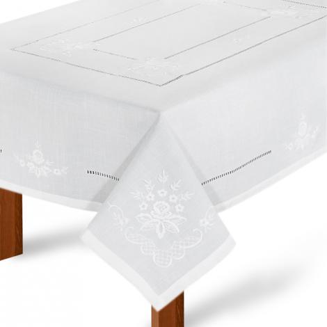 imagem do produto Toalha de Mesa Redonda 180cm Bordada 959 - Rafimex