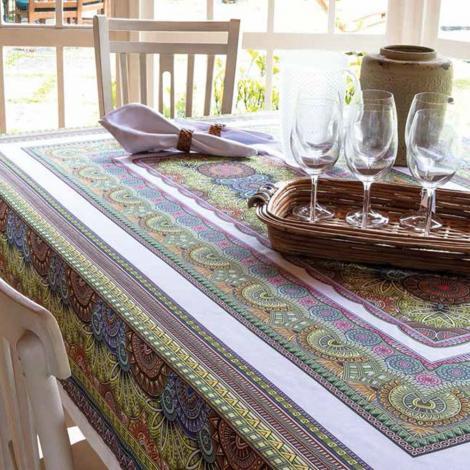 imagem do produto Toalha de Mesa Retangular 150x270cm Digital Aruba - Linha K